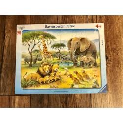 Rahmenpuzzle Safari